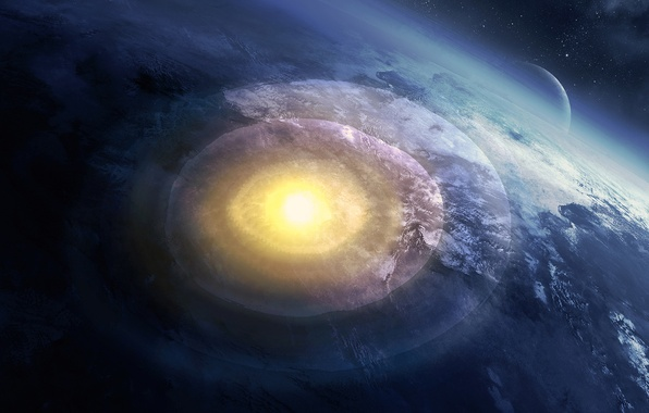 Picture the explosion, planet, art, cataclysm