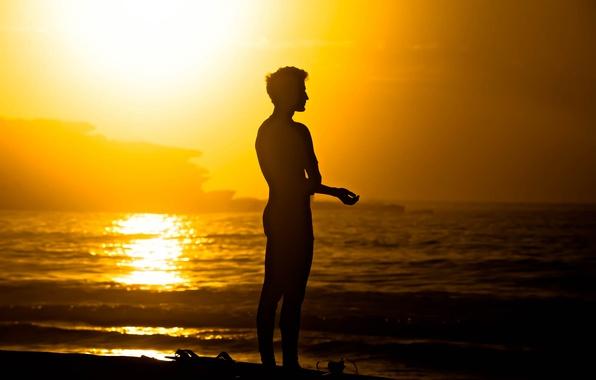 Picture waves, summer, beach, sea, ocean, morning, man, sunrise, surf, serenity, seaside, surfer, silhouette, peaceful, surfboard, …