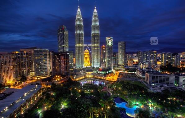Picture night, Malaysia, Kuala Lumpur, Blue Hour, Malaysia, Kuala Lumpur, Rasdi Abdul Rahman Photography
