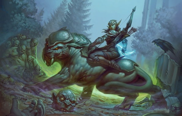 Photo Wallpaper Orc The Moon Panther Art Archer Body