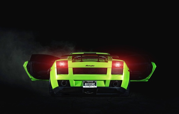 Picture Lamborghini, Gallardo, Green, Yoda, 2005, Supercar, Project, Rear, 1250HP