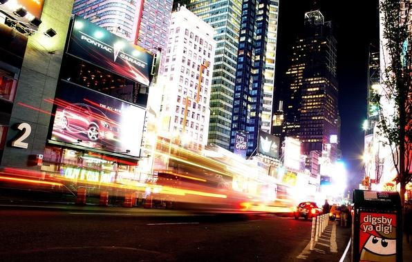 Picture night, New York, Manhattan, advertising