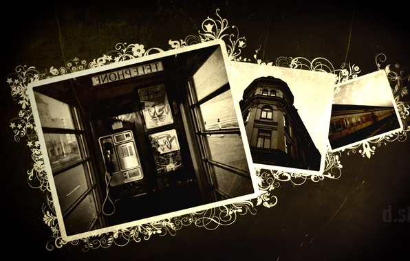Picture train, phone, booth