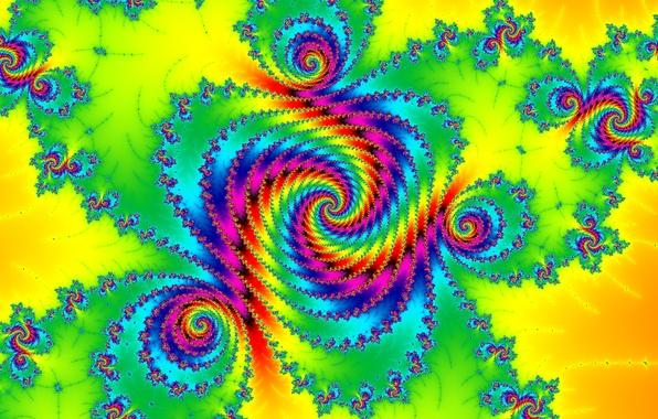 Picture light, pattern, color, spiral, fractal