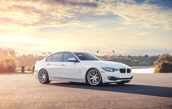 Picture BMW, white, front, 328i, F30, Sedan, 3 Series