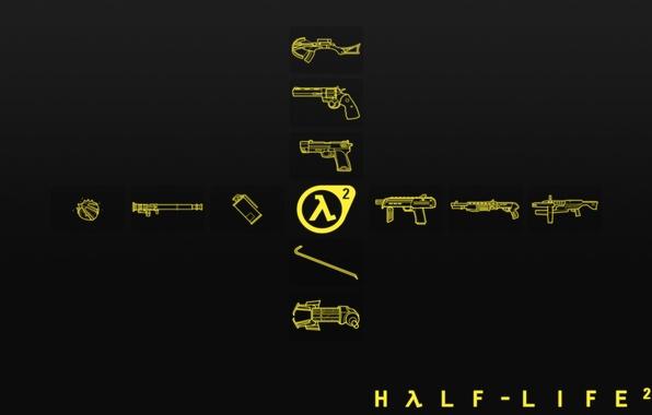 Picture minimalism, logo, half-life 2, Arsenal