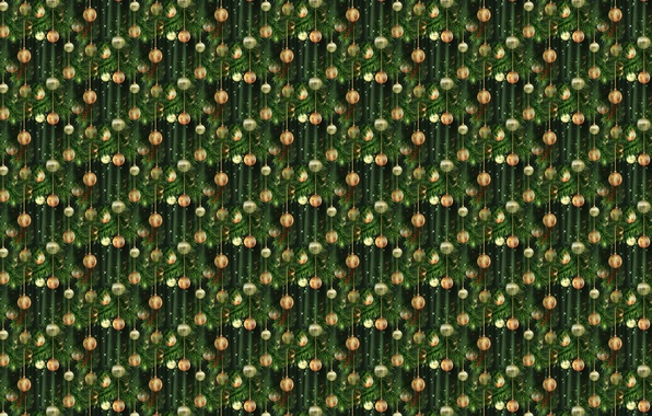 Picture background, holiday, texture, art, New year, herringbone, Christmas balls