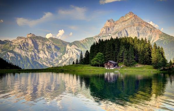Picture Switzerland, mountain, Alps, Arnisee