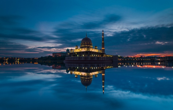 Picture the sky, clouds, sunset, clouds, Strait, the evening, mosque, sky, sunset, clouds, evening, Malaysia, Malaysia, …