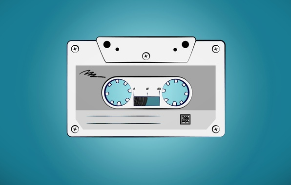 Picture blue, retro, music, film, cassette
