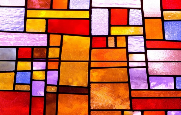 Picture glass, colorful, abstract, stained glass, glass, background, stained