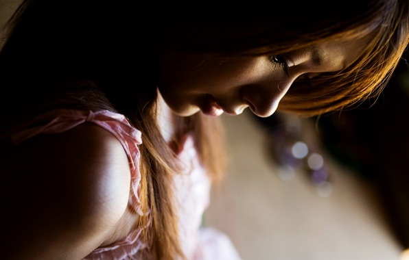Picture sadness, girl, loneliness, mood, the evening