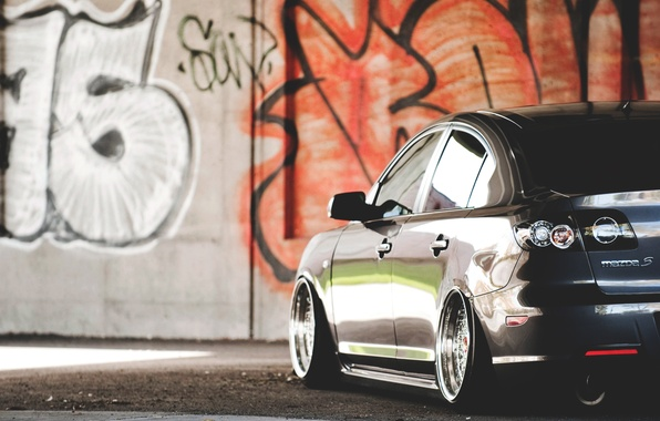 Picture graffiti, wall, graffiti, mazda, Mazda