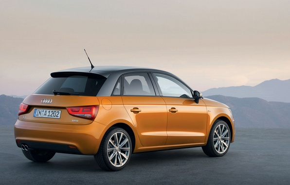 Picture the sky, mountains, ring, lights, emblem, audi A1