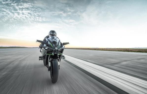 Photo Wallpaper Kawasaki Moto Bike Power Motorcycle Speed Track