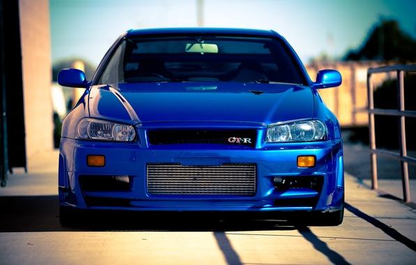 Picture blue, Nissan, Nissan, blue, gt-r, Skyline, R34, skyline