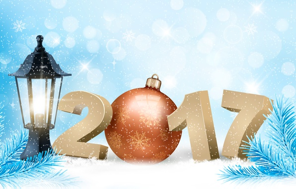 Picture winter, snow, snowflakes, background, holiday, toy, graphics, new year, vector, ball, figures, lantern, needles, snowfall, …