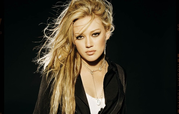 Picture look, girl, decoration, arrows, hair, makeup, blonde, Hilary Duff, jacket