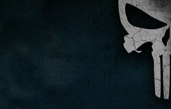 Picture skull, minimalism, the punisher, the Punisher