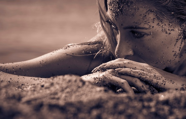 Picture sand, macro, portrait