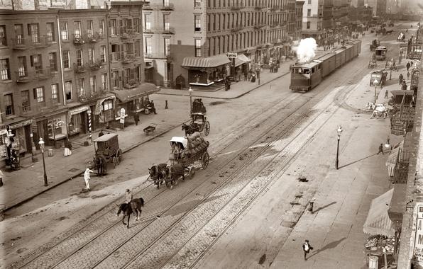 Picture wagon, tram, street