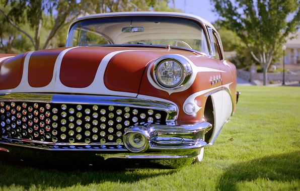 Picture retro, classic, the front, 1956, Buick