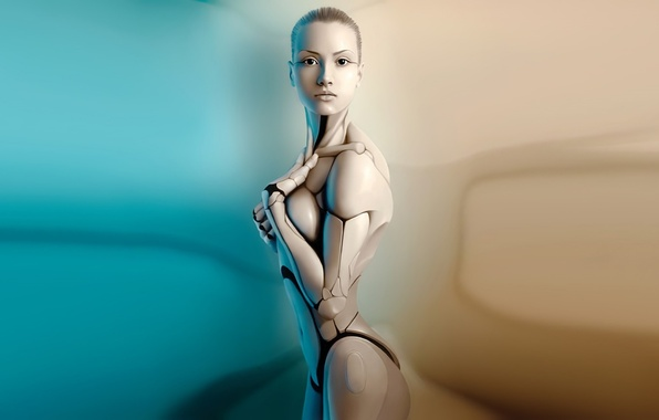 Picture girl, body, mechanism, robot