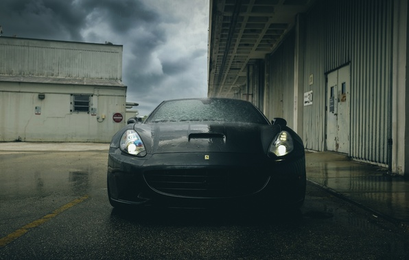 Picture Ferrari, supercar, black, California