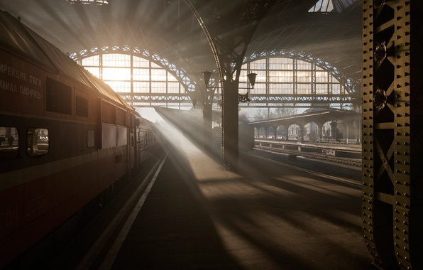 Picture morning, Saint Petersburg, Vitebsky railway station