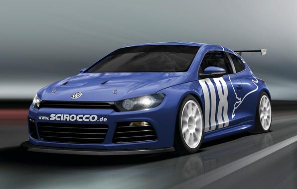 Picture Road, Blue, Volkswagen, Machine, Movement, Car, Car, Cars, Blue, Volkswagen, GT24, Sirocco, Scirocco