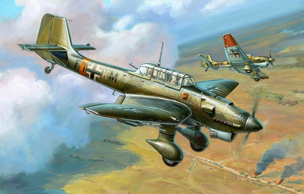 Picture the plane, figure, thing, dive bomber, Junkers, Dive bomber, Air force, Luftwaffe, Ju 87, Junkers, …