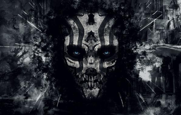 Wallpaper death, darkness, skull, the demon, destruction ...