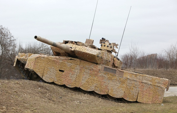 Picture Germany, tank, camouflage, armor, military equipment, Leopard 2A7+