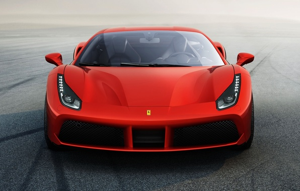 Picture red, Ferrari, supercar, Ferrari, 2015, 488 GTB
