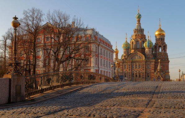 Picture bridge, the building, Saint Petersburg, temple, Russia, bridge, Church of the Savior on Blood, Malo-Konyushenny ...