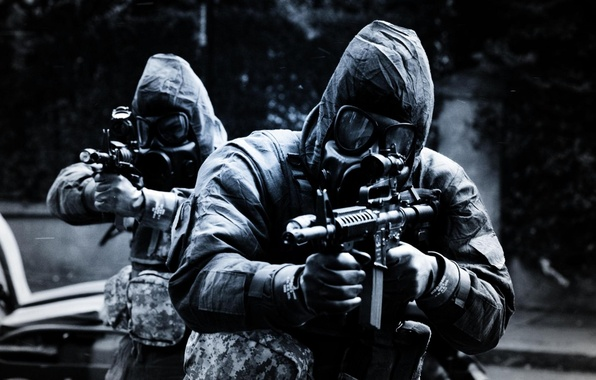 Picture weapons, gas mask, Soldiers, special forces, SAS