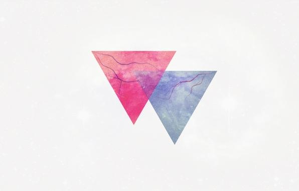 Picture lightning, minimalism, triangle