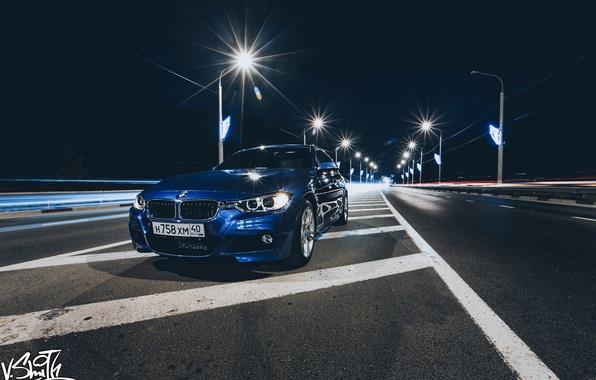 Picture road, machine, auto, BMW, lights, photographer, auto, photography, photographer, Vladimir Smith, Vladimir Smith, Kaluga, Kaluga