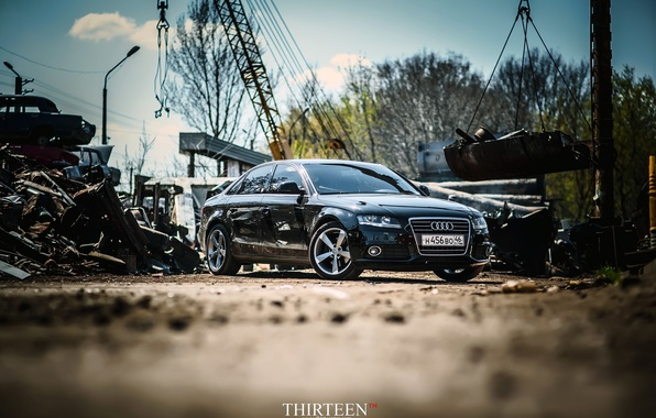 Picture machine, auto, Audi, sedan, drives, bumper, auto, sedan, Kursk