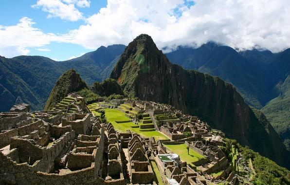 Picture hills, the ancient city, Peru, Peru, Machu Picchu