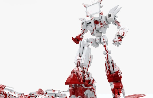 Picture white, blood, robot