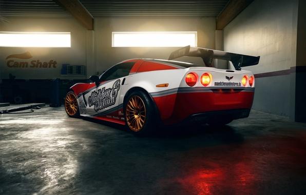 Picture garage, Corvette, Chevrolet, Girls&motors