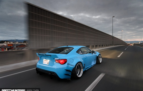 Picture subaru, road, toyota, tuning, speed, low, highway, brz, gt86, scion, fr-s