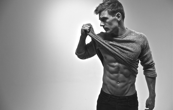 Picture white, black, men, pose, abs