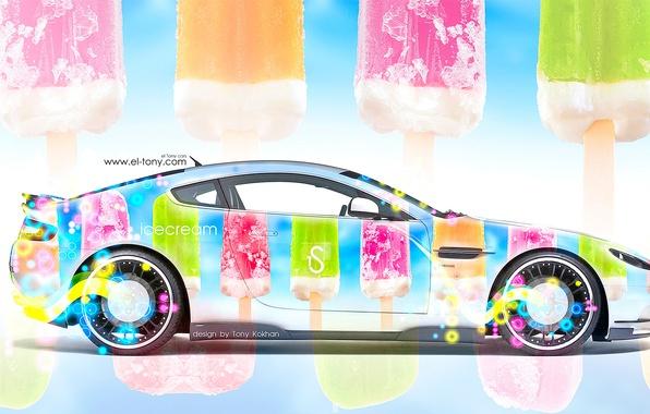 Picture Aston Martin, Auto, Machine, Wallpaper, Ice cream, Car, Art, Art, Design, Style, Aston Martin, Side, …