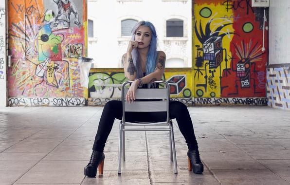 Picture girl, tattoo, Moka Presley