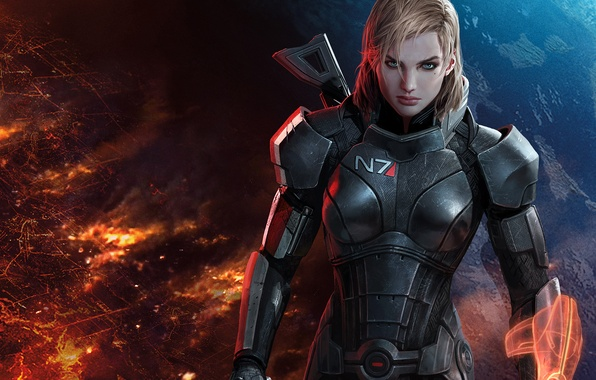 Picture earth, effect, shepard, the reapers, Shepard, mass, effect, mass, commander