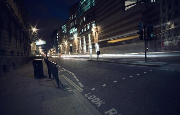 Picture road, night, lights, night, street
