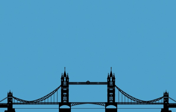 Picture Wallpaper, England, London, minimalism, bridge, Tower Bridge, London, Tower bridge