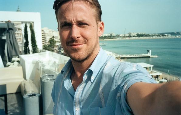 Picture sea, summer, photo, actor, shirt, Ryan Gosling, Ryan Gosling, Time, Jonas Unger